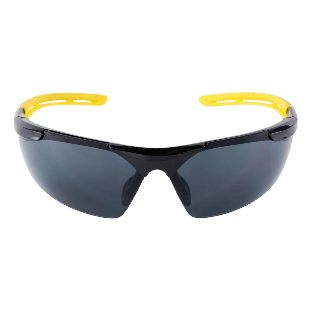 8f739497494 3M Safety Eyewear Glasses Gray Comfort Black Frame with Yellow Accent Anti  Fog and Scratch Resistant Lens (Case of 6)