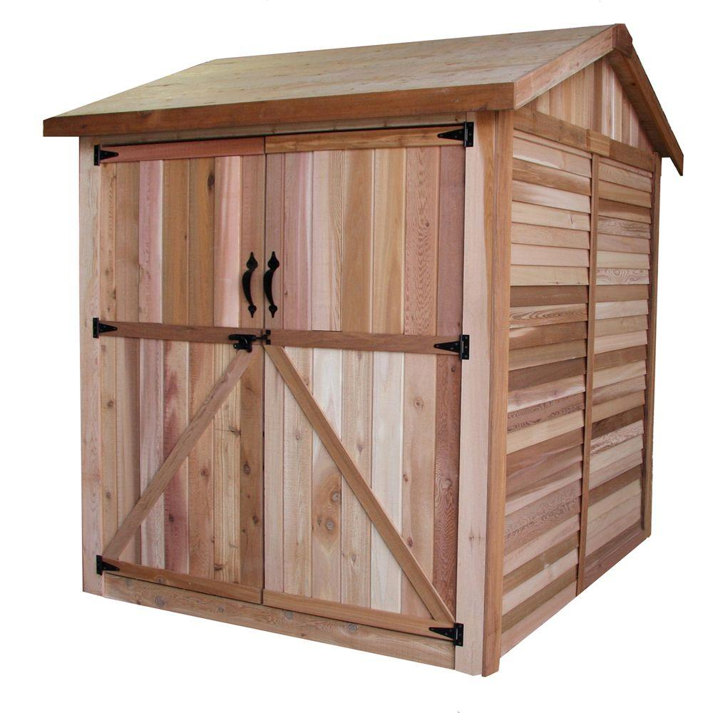 Outdoor living today 6 ft x 6 ft western red cedar for Outdoor wood shed