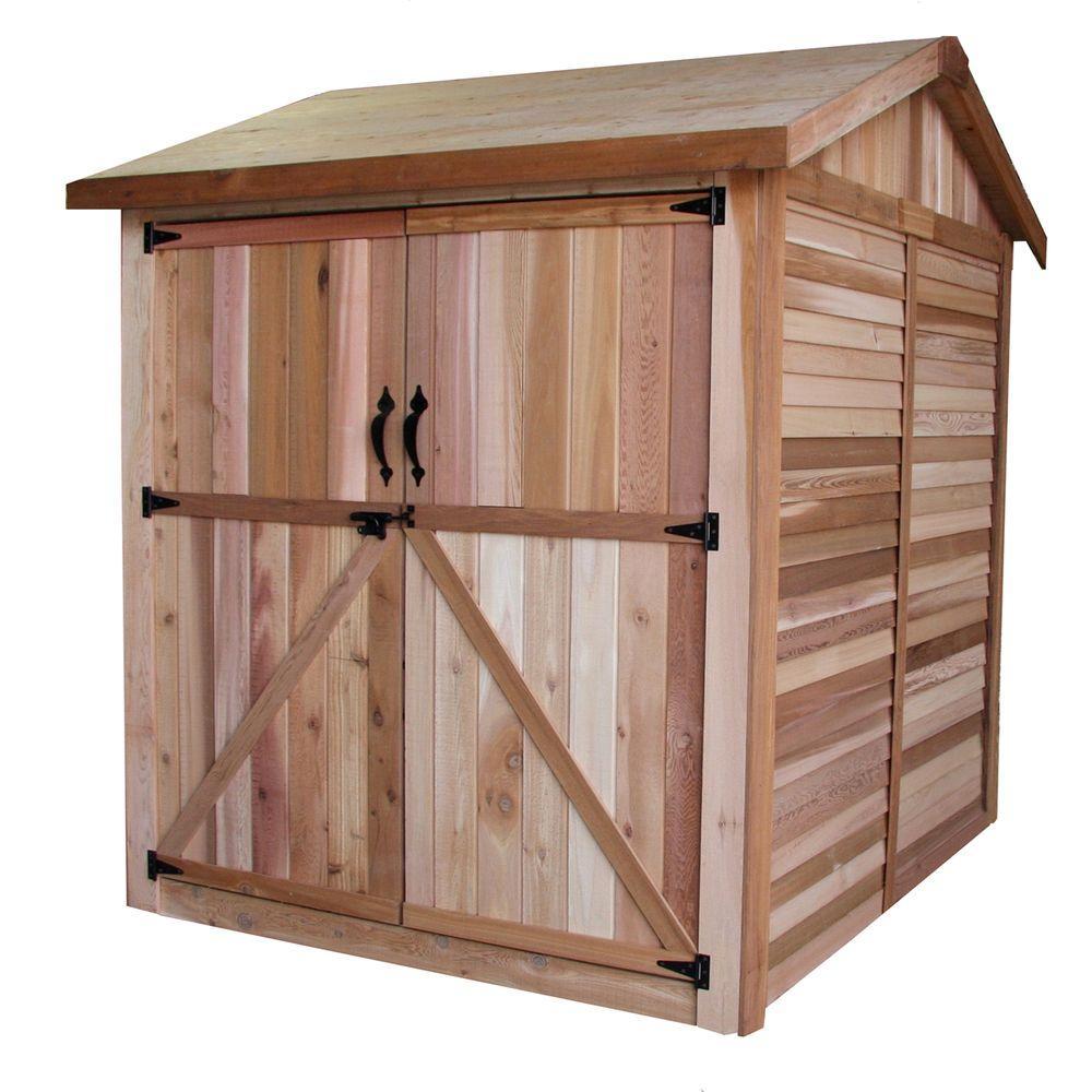 Outdoor Living Today 6 ft. x 6 ft. Western Red Cedar Maximizer Storage Shed by Outdoor Living Today