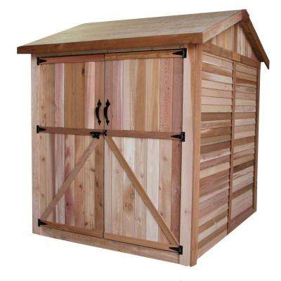 6 ft. x 6 ft. Western Red Cedar Maximizer Storage Shed