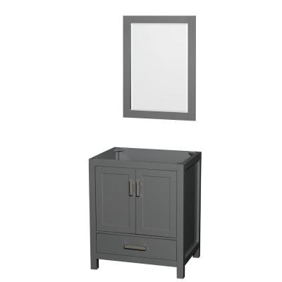 Sheffield 29 in. W x 21.75 in. D Vanity Cabinet Only with Mirror in Dark Gray