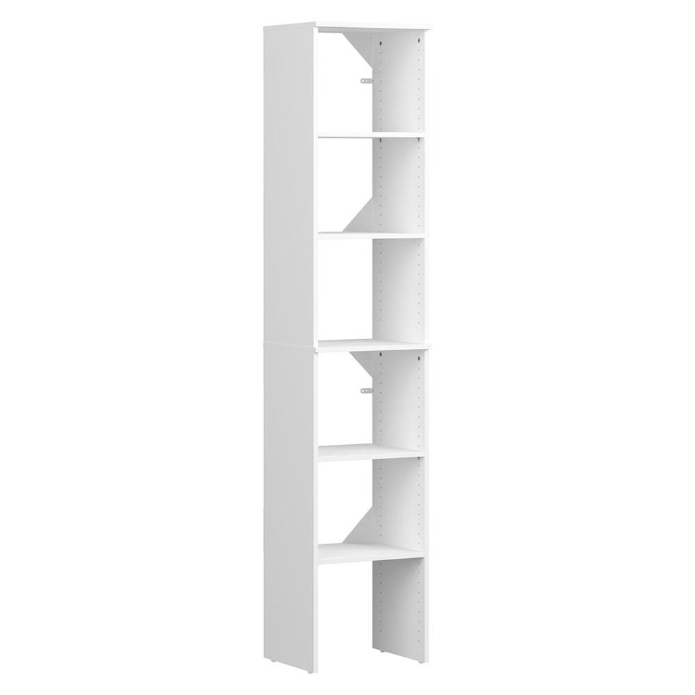 ClosetMaid ClosetMaid Style + 15 in. D x 17 in. W x 82 in. H White Melamine Floor Mount 6-Shelves Closet System