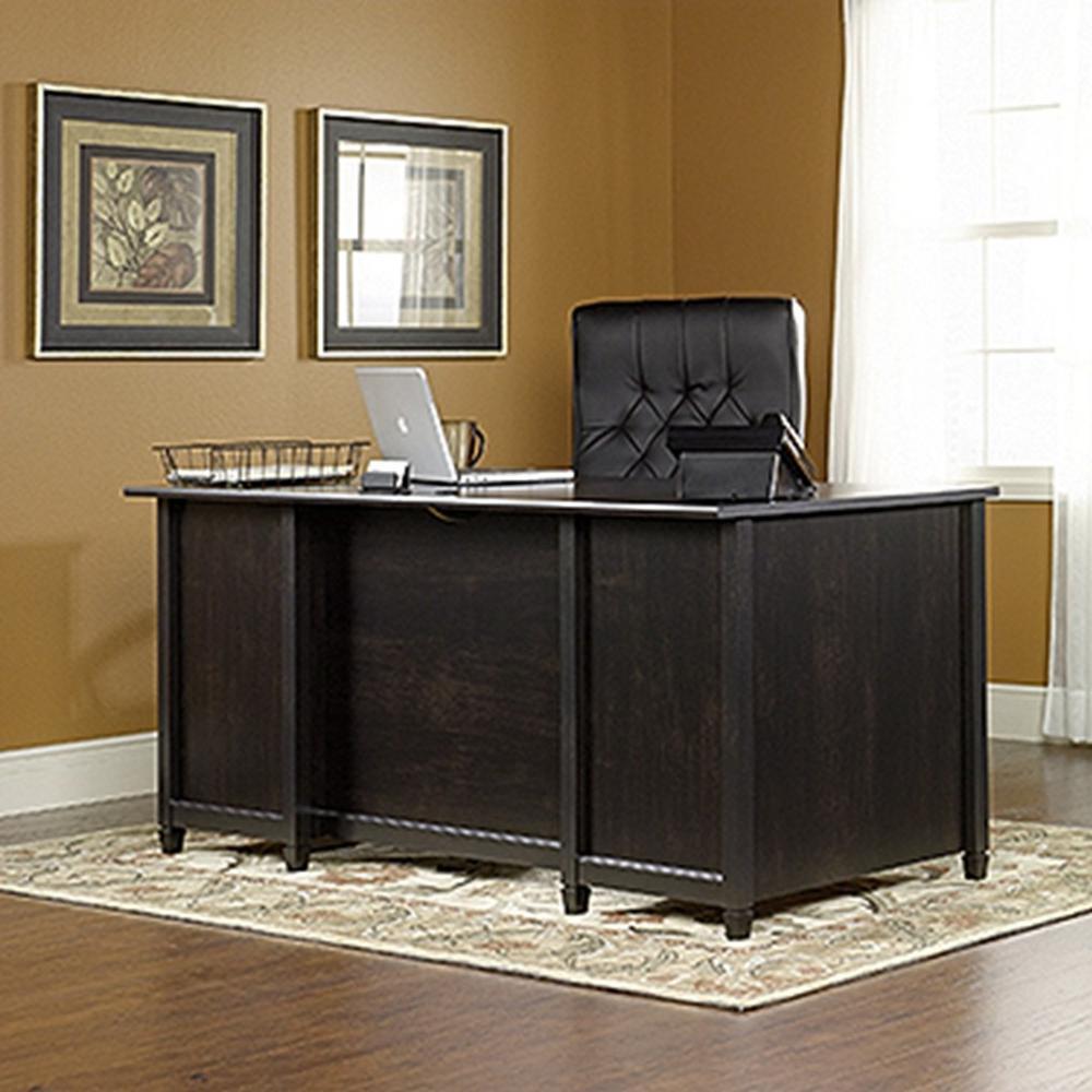 Sauder Edge Water Estate Black Desk 409042 The Home Depot