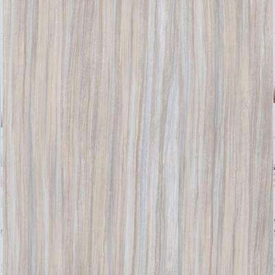 Gray Linear Travertine 12 in. x 24 in. Peel and Stick Vinyl Tile