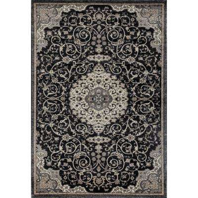 Dexter Calligraphy Black 7 ft. x 9 ft. Area Rug