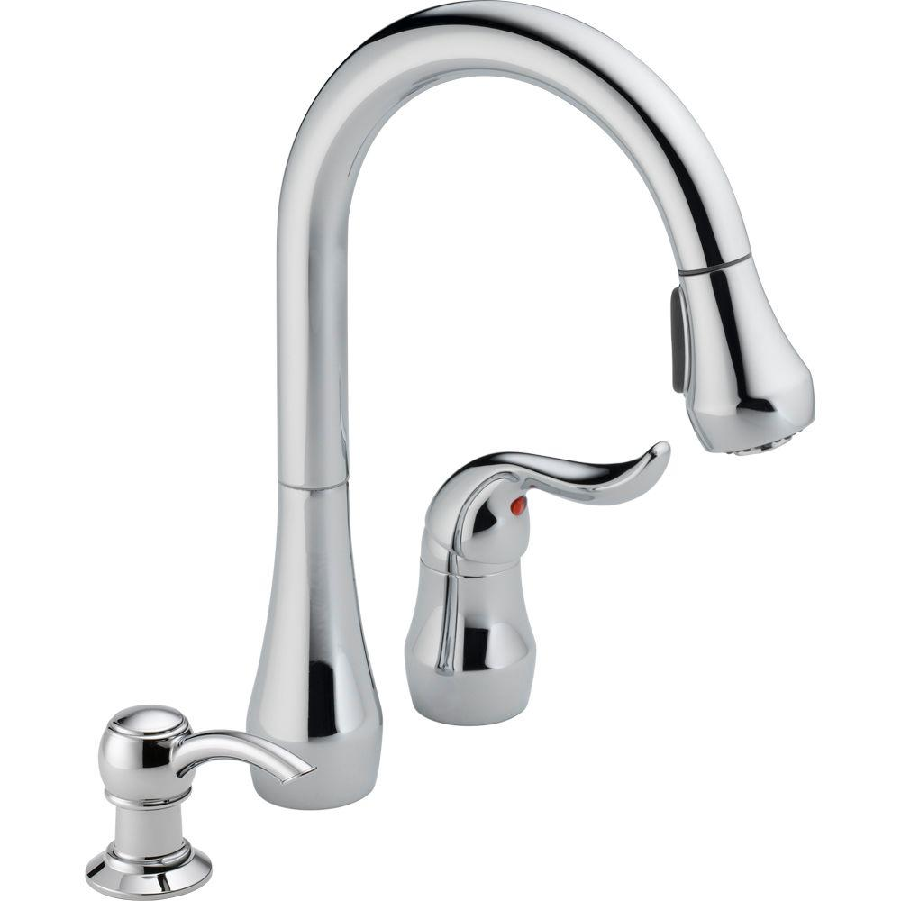 Merveilleux Peerless Apex Single Handle Pull Down Sprayer Kitchen Faucet With Soap  Dispenser In Chrome