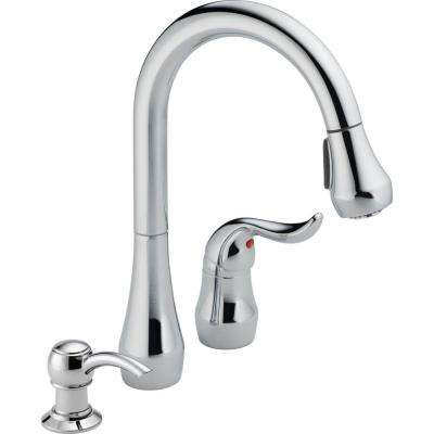 Apex Single-Handle Pull-Down Sprayer Kitchen Faucet with Soap Dispenser in Chrome