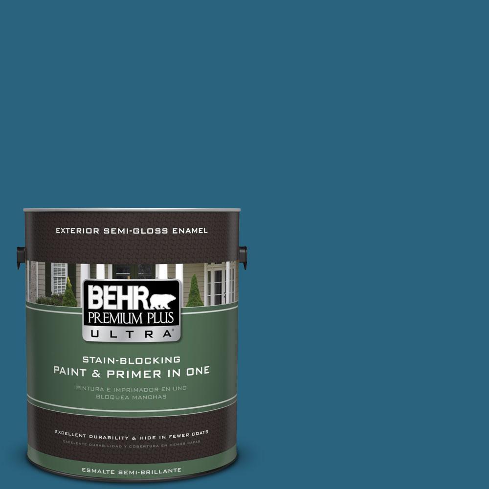 BEHR Premium Plus Ultra 1-gal. #550D-7 Southern Evening Semi-Gloss Enamel Exterior Paint