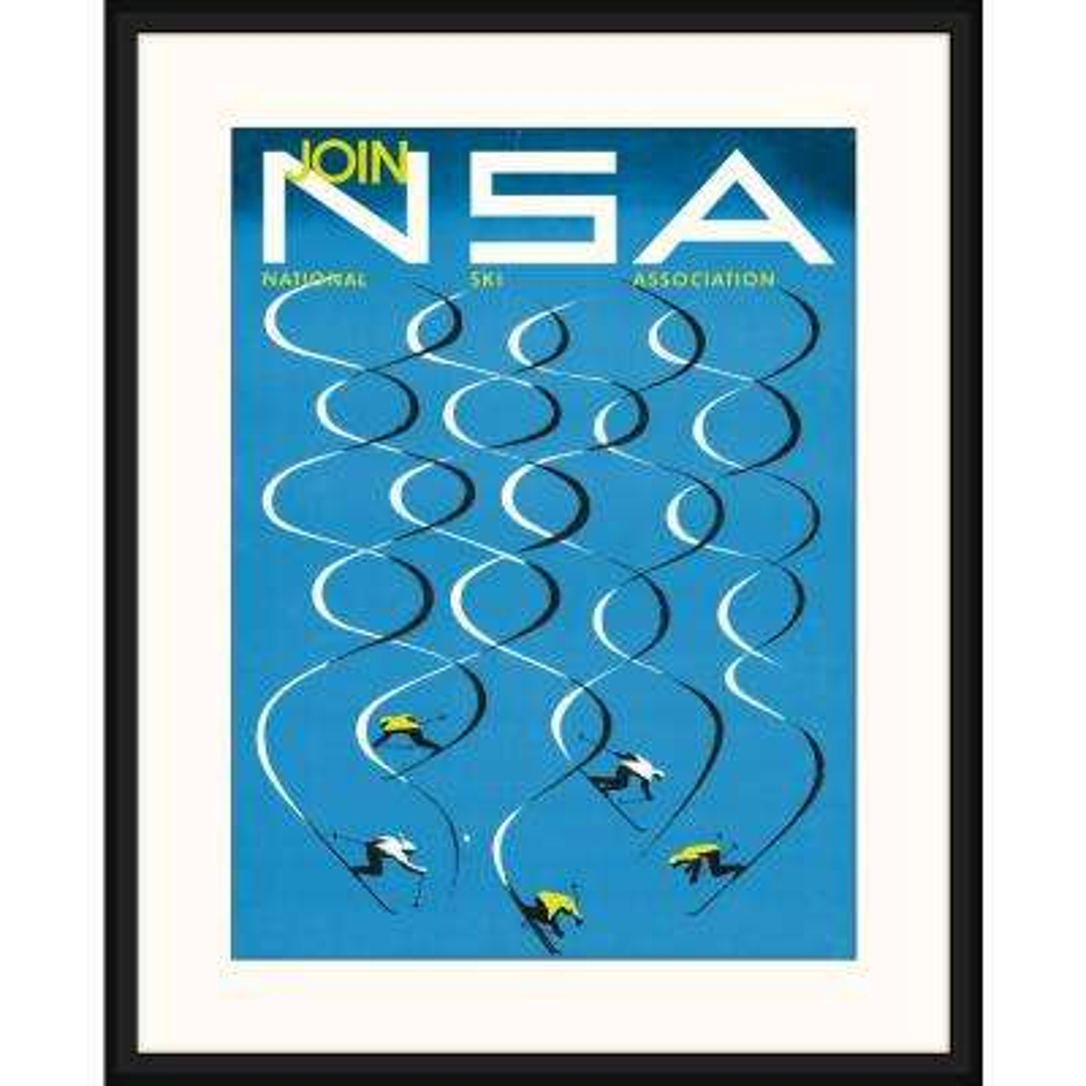 Melissa Van Hise Ski Poster V Framed Giclee Vintage Art Print 23 In X 29 In Ip20855 The Home Depot