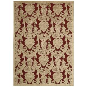Nourison Graphic Illusions Red 2 ft. 3 inch x 3 ft. 9 inch Accent Rug by Nourison