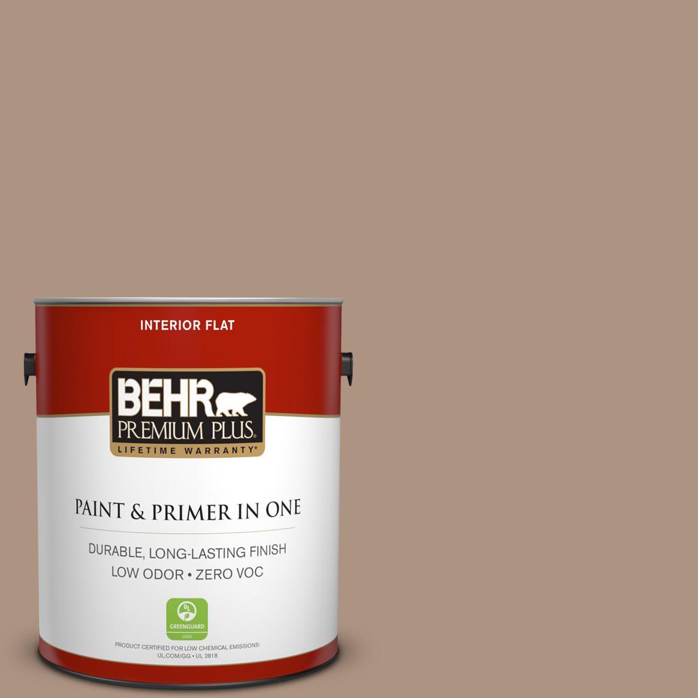 BEHR Premium Plus 1-gal. #HDC-SP14-5 Mocha Tan Zero VOC Flat Interior Paint