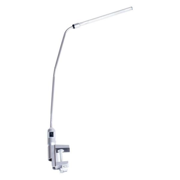 41 in. Silver Modern Contemporary LED Clamp Desk Lamp