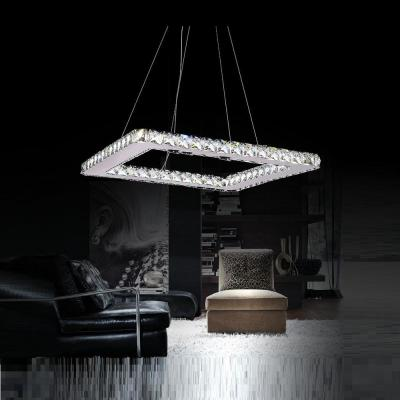 Ring 1-Watt Chrome Integrated LED Chandelier