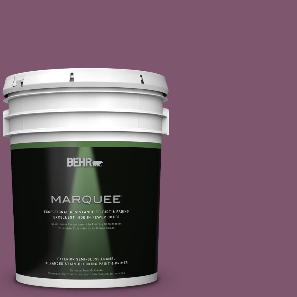 5-gal. #M110-7 Euphoric Magenta Semi-Gloss Enamel Exterior Paint