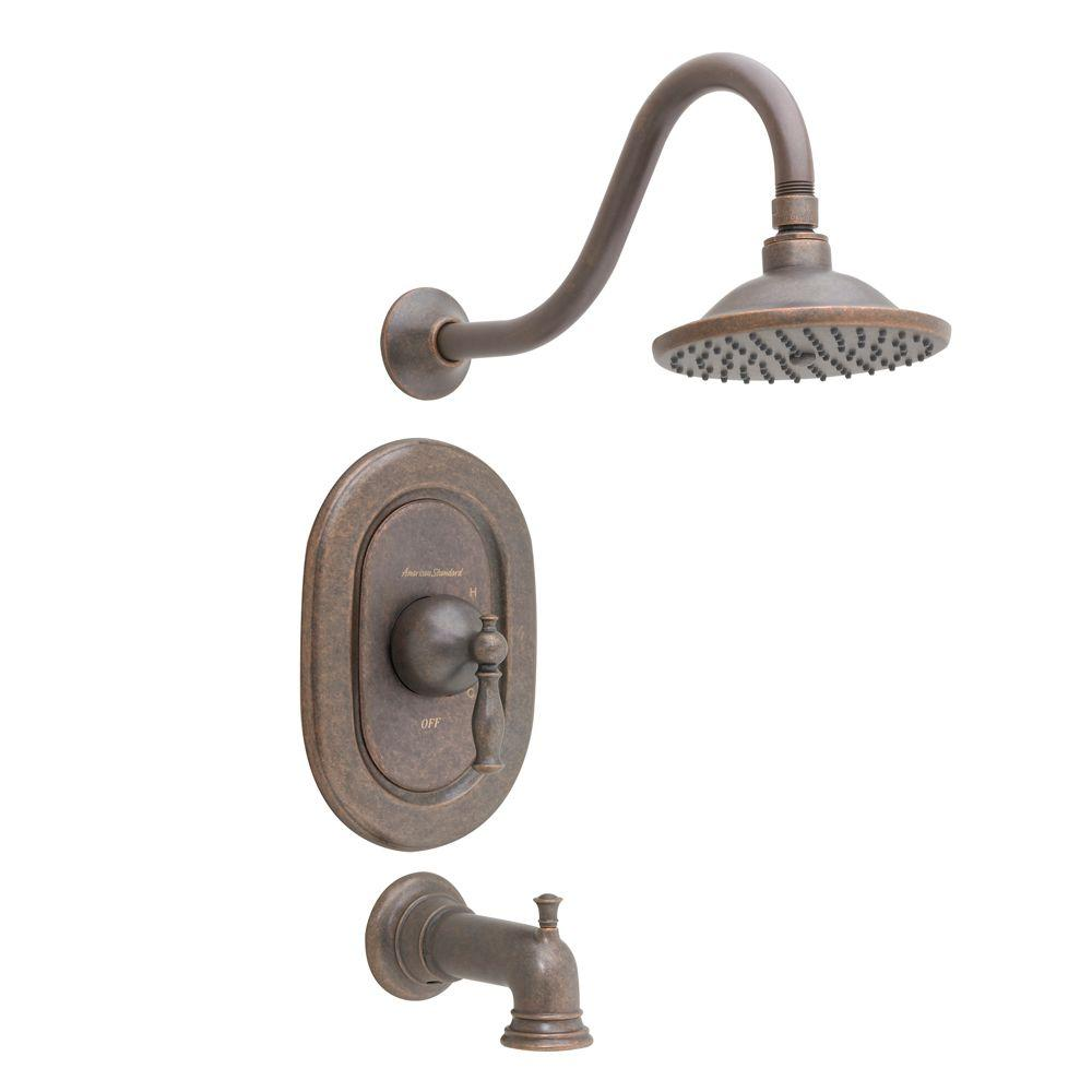 American Standard Quentin 1 Handle Tub And Shower Faucet Trim Kit In Oil Rubbed Bronze
