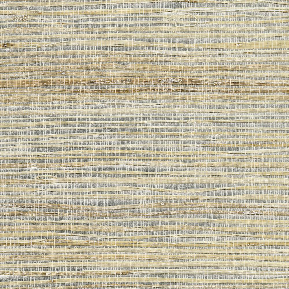 Luzhou Silver Grasscloth Silver Wallpaper Sample