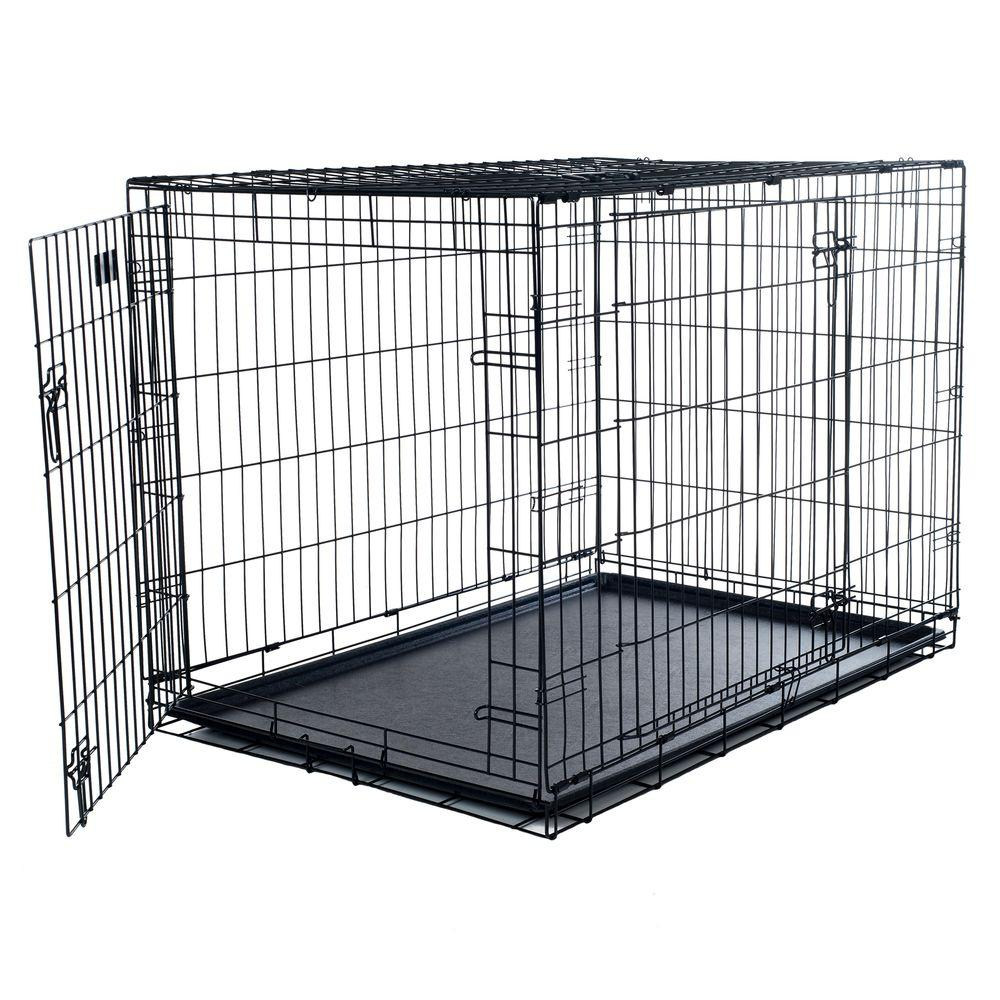 Petmaker 30 In X 19 In Foldable Dog Crate Cage With 2 Door 80 301501 The Home Depot