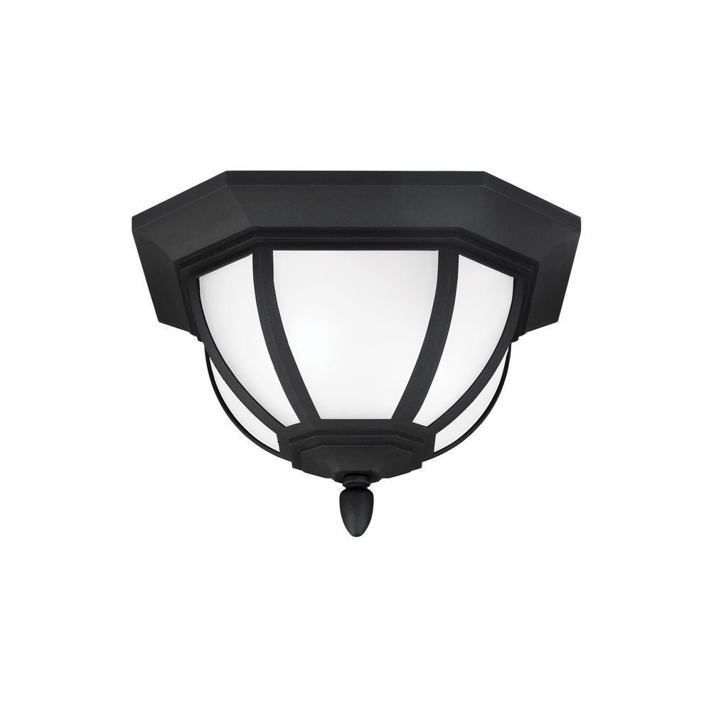 Childress Black 2-Light Outdoor Flush Mount