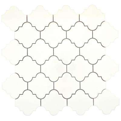 Vogue Biscuit Lantern Glossy 11.97 in. x 12.24 in. x 8 mm Ceramic Mesh-Mounted Mosaic Tile (1.02 sq. ft.)