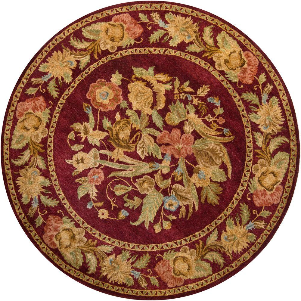 Chandra Verona Blue/Gold 7 ft. 9 in. Indoor Round Area Rug