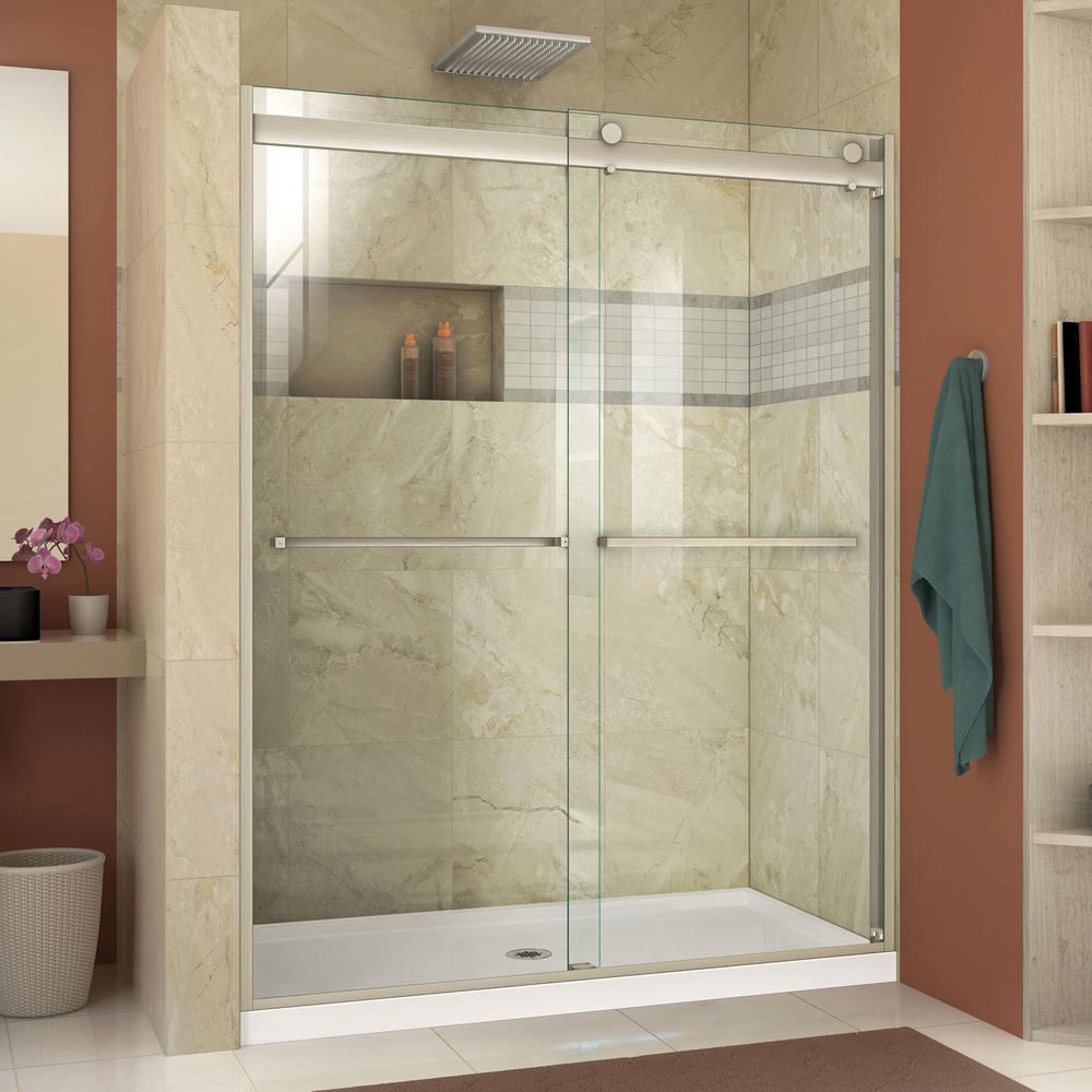 Dreamline Essence H 48 In X 76 In Semi Frameless Bypass Shower