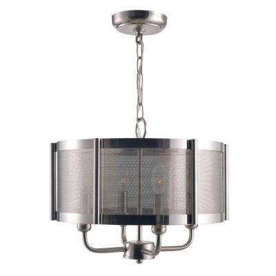 Xena Collection 4-Light Brushed Nickel Indoor Chandelier