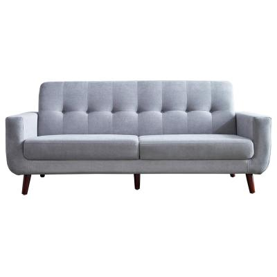 79.6 in.  Width Gray Mid-Century Modern Fabric Upholstered Lovseats Sofa with Tufted Back