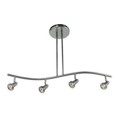 Cobra 4-Light Brushed Steel Spotlight Pendant