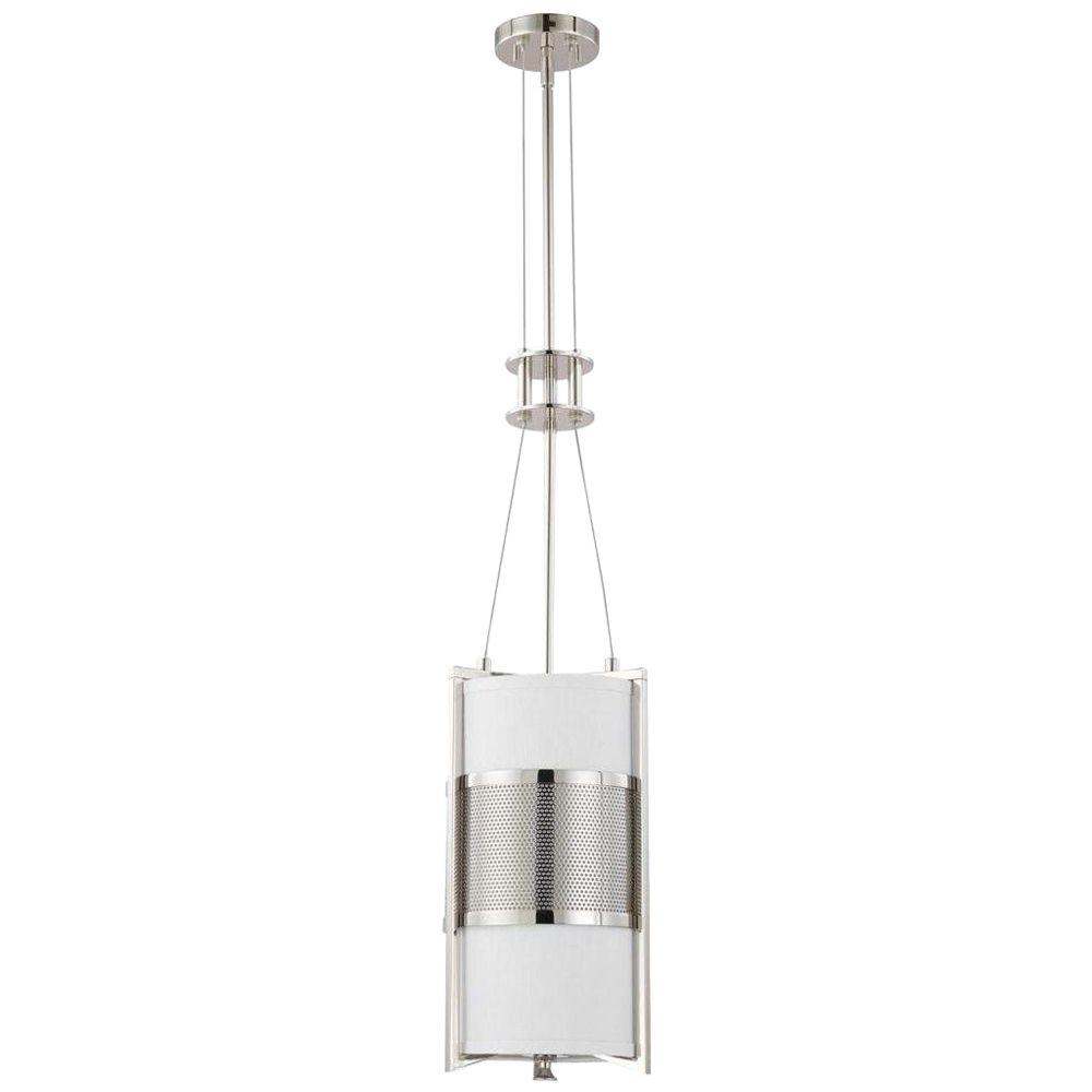 Glomar 1-Light Polished Nickel Incandescent Ceiling Pendant