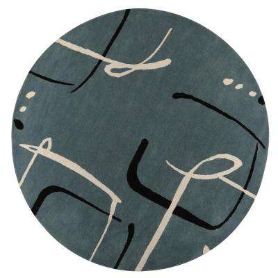 Fragment Aegan Blue 8 ft. x 8 ft. Round Area Rug