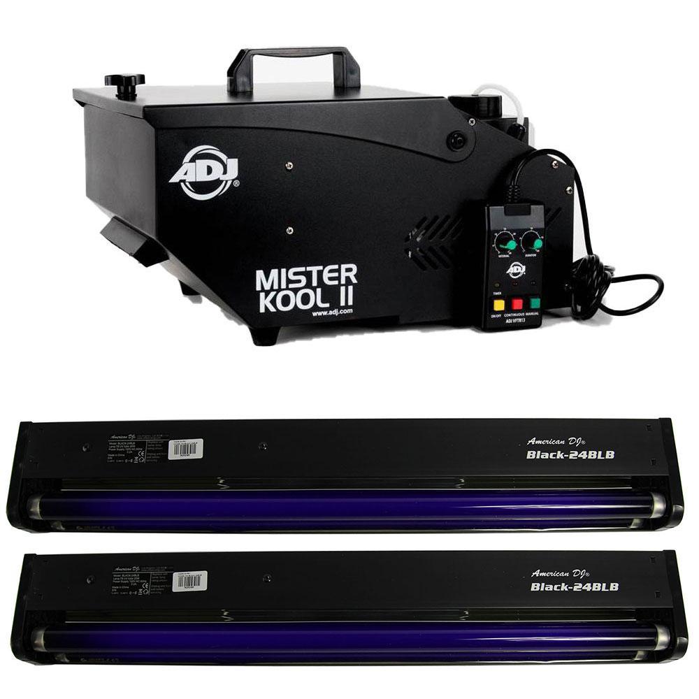 Smoke Fog Machine and 24 in. 20-Watt Black Light (2-Pack)