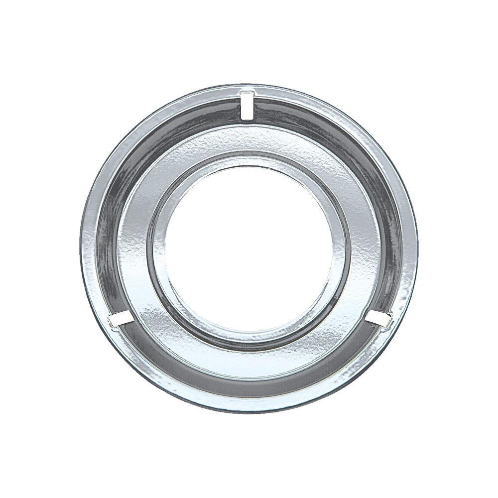 Range Kleen 8.25 in. Gas Drip Pan in Chrome