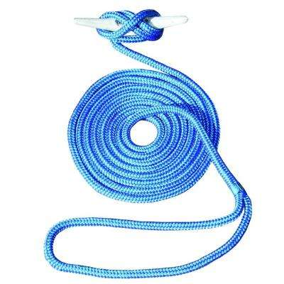 25 ft. 1/2 in. Hand-Spliced Double Braid Blue Dock Line
