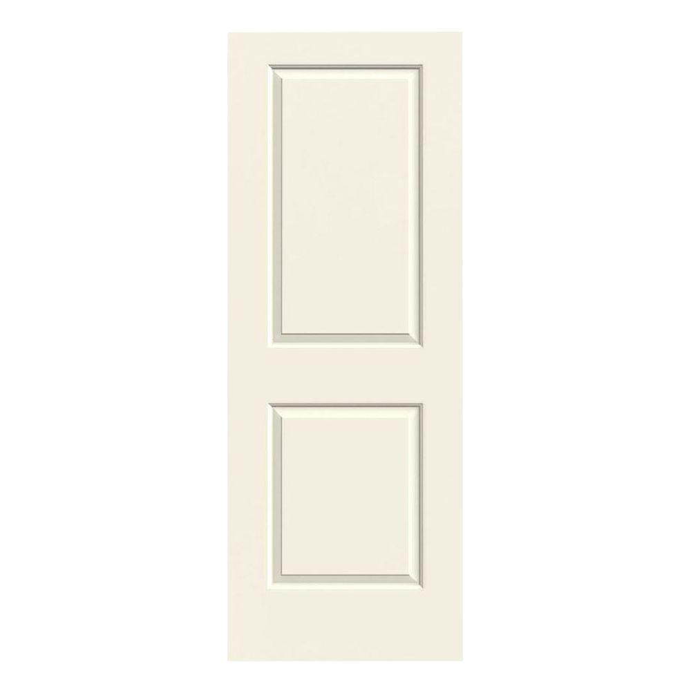 28 in. x 80 in. Cambridge Vanilla Painted Smooth Molded Composite