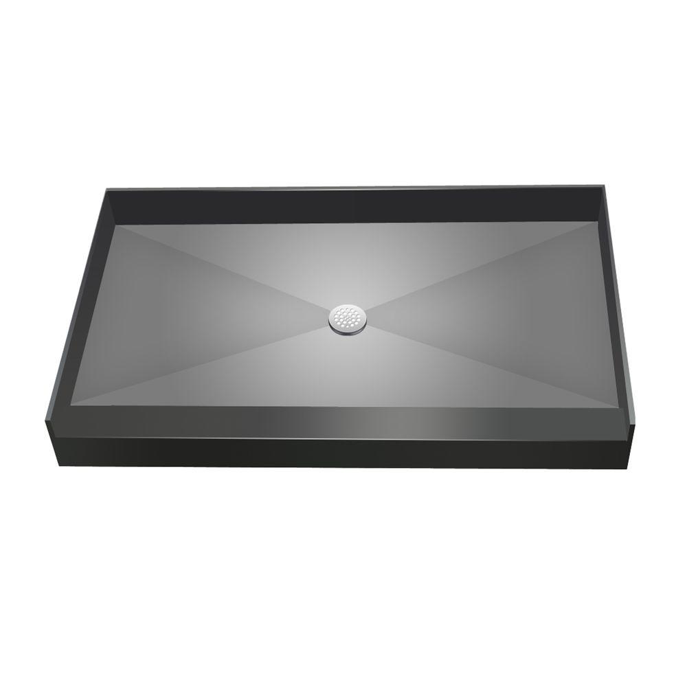 Redi Base 34 In. X 60 In. Single Threshold Shower Base With Center Drain