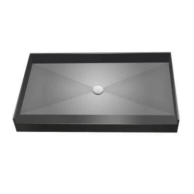 34 in. x 60 in. Single Threshold Shower Base with Center Drain