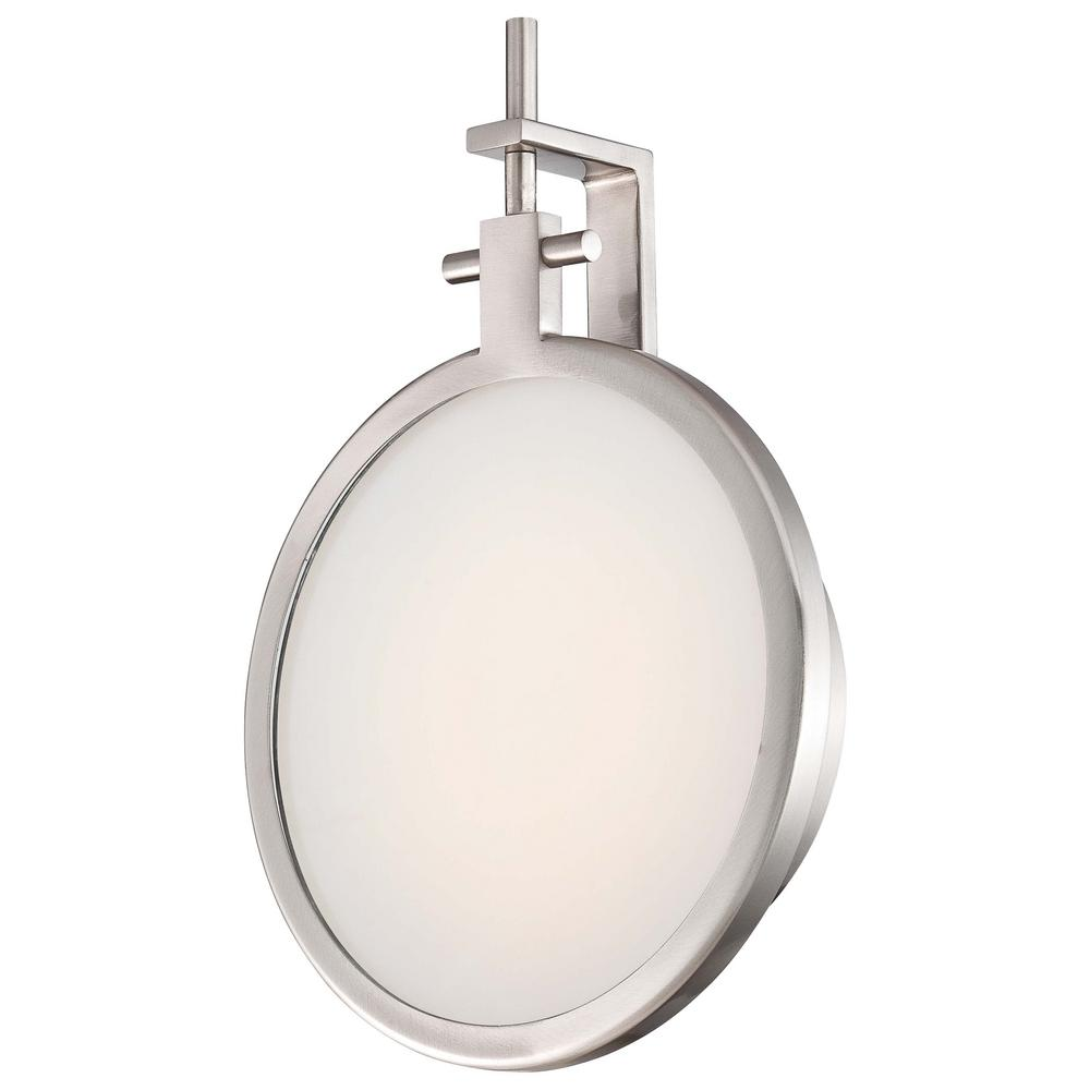 George kovacs sconces lighting the home depot 12 watt brushed nickel integrated led wall sconce amipublicfo Choice Image