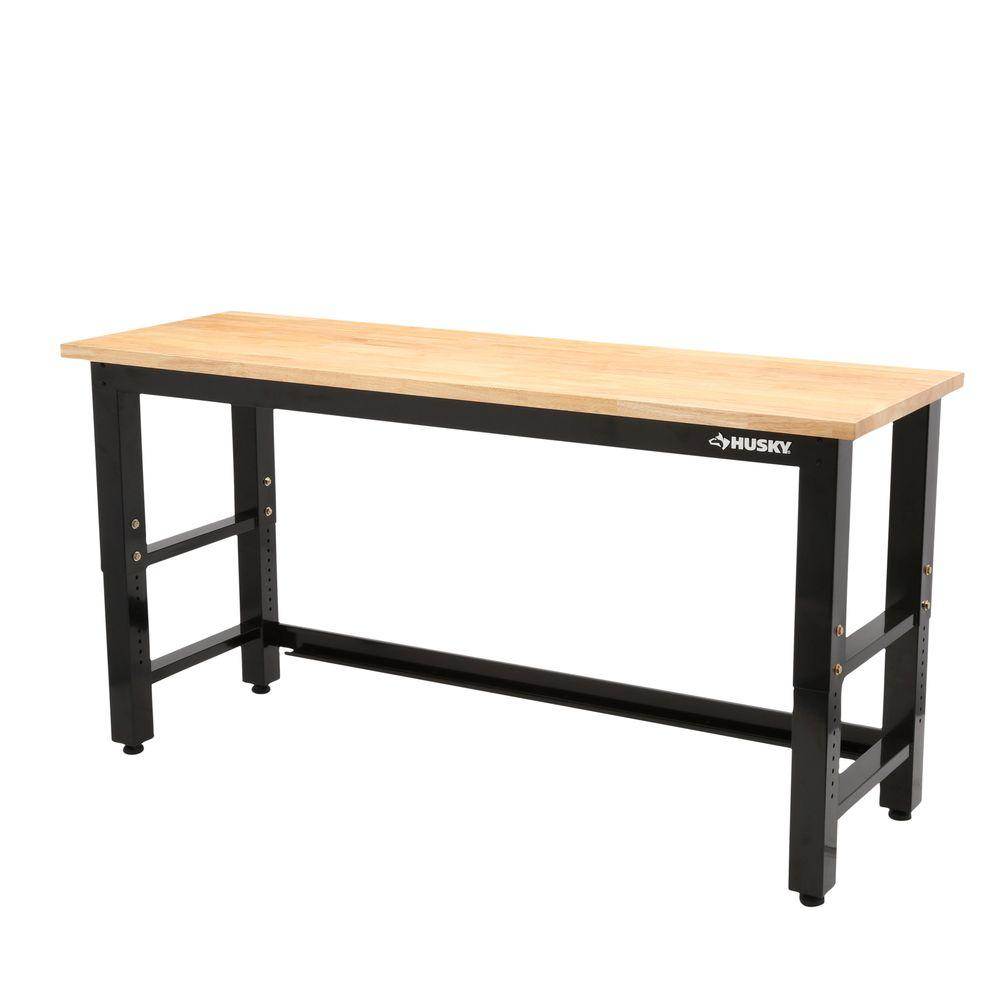 Husky 6 Ft Solid Wood Top Workbench G7200s Us The Home