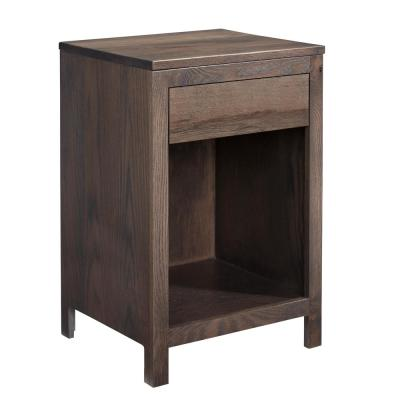 Jakob 1-Drawer Storm Gray Nightstand 27 in. x 18 in. x 16 in.