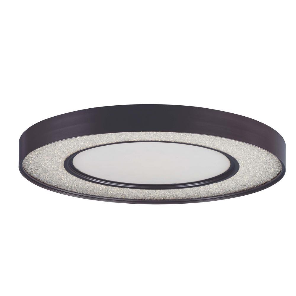 Splendor 23.5 in. Bronze Integrated LED Flushmount Light