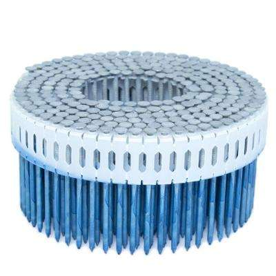 2.25 in. x 0.092 in. 0-Degree Smooth Hot Dip Plastic Sheet Coil Nail 4,000 per Box