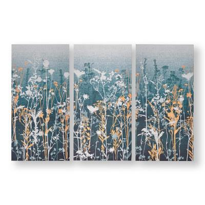 """24 in. x 12 in. """"Wildflower Meadow"""" Printed Canvas Wall Art"""