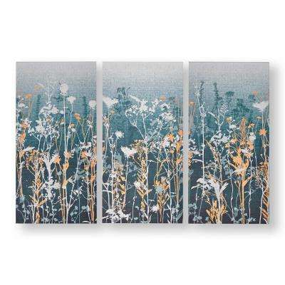 "24 in. x 12 in. ""Wildflower Meadow"" Printed Canvas Wall Art"