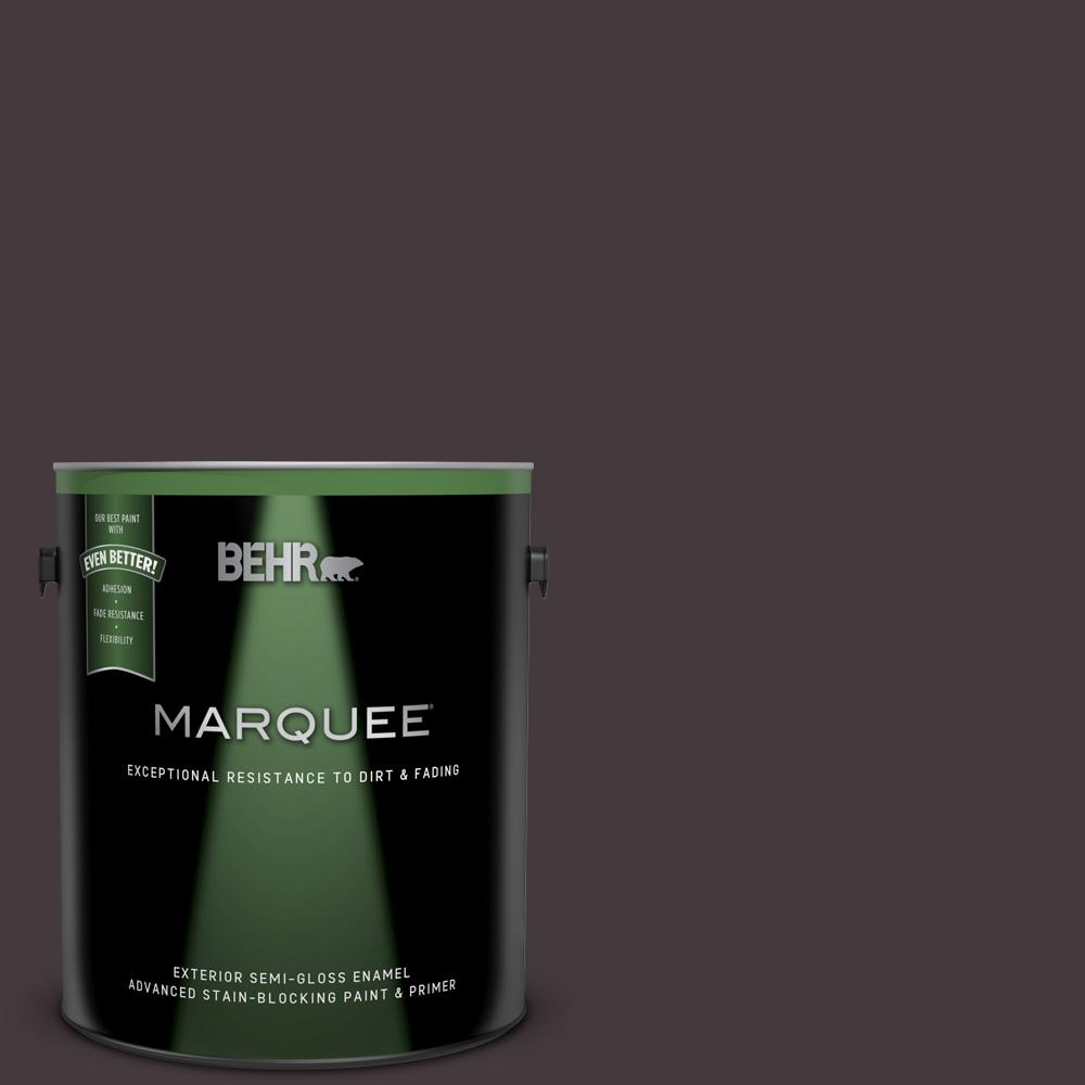 Behr Marquee 1 Gal Ppu17 20 Eclectic Purple Semi Gloss Enamel Exterior Paint And Primer In One 545301 The Home Depot