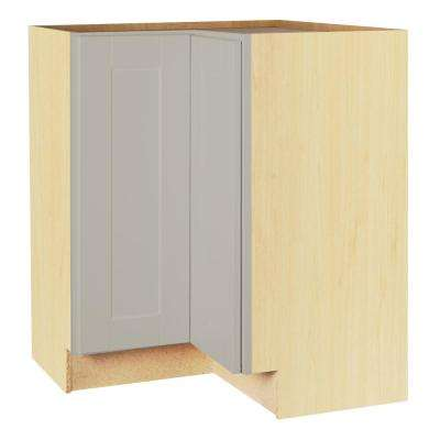 Hampton Bay Shaker Assembled 28.5x34.5x16.5 inch Lazy Susan Corner Base Kitchen Cabinet in Dove Gray by Hampton Bay