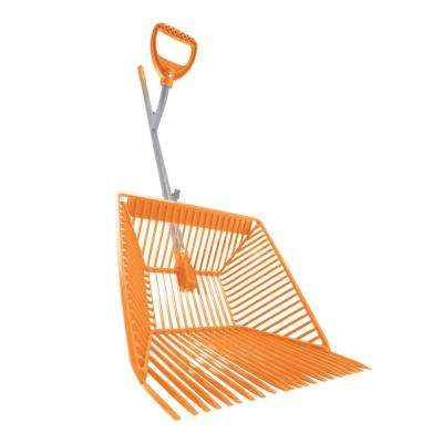 54 in. Steel Shaft Muck Scoop with Auto Sifting Fork Basket