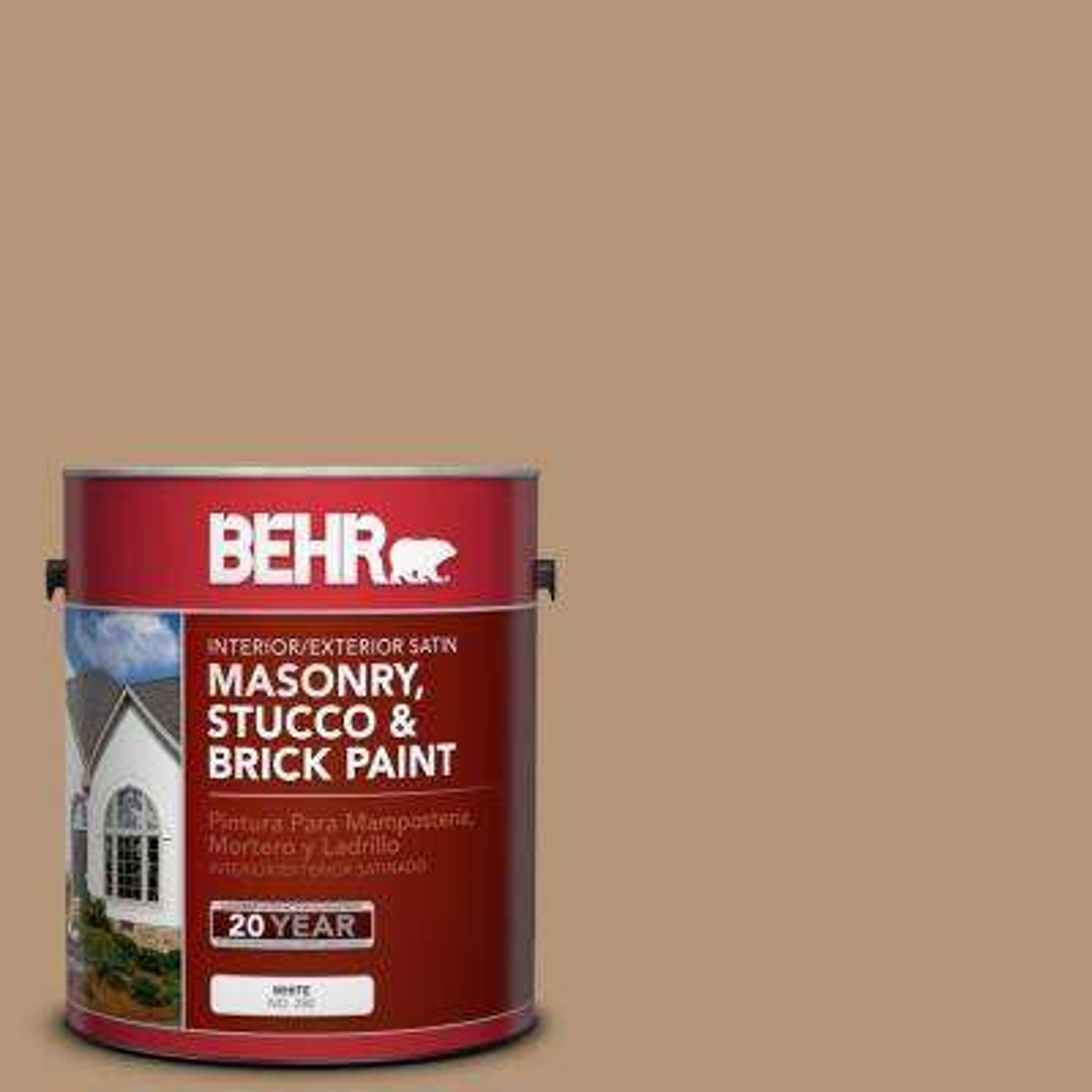 1 gal. #280F-4 Burnt Almond Satin Interior/Exterior Masonry, Stucco and Brick Paint