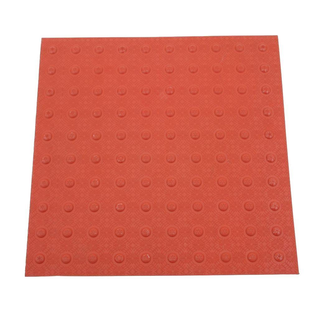 DWT Tough-EZ Tile 2 ft. x 2 ft. Brick Red Detectable Warning Tile