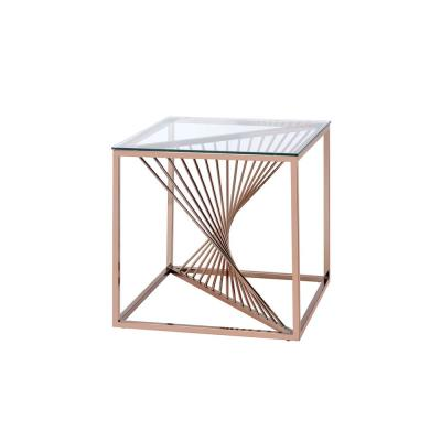 Amelia Brushed Copper Traditional End Table