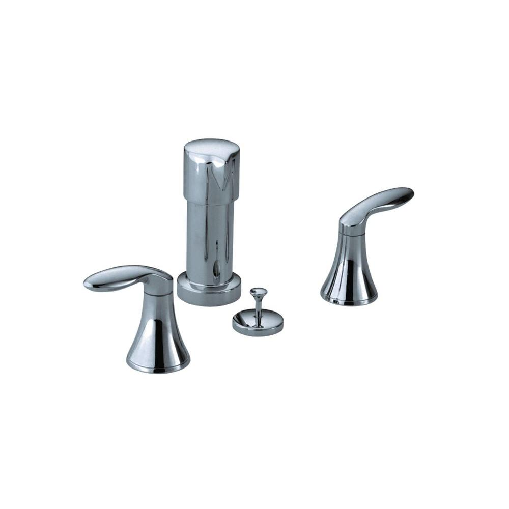 Coralais 2-Handle Bidet Faucet in Polished Chrome